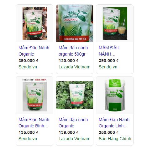 Tin tức, tài liệu: Mầm đậu nành Organic tăng vòng 1 có tốt không Gia-mam-dau-nanh-Organic