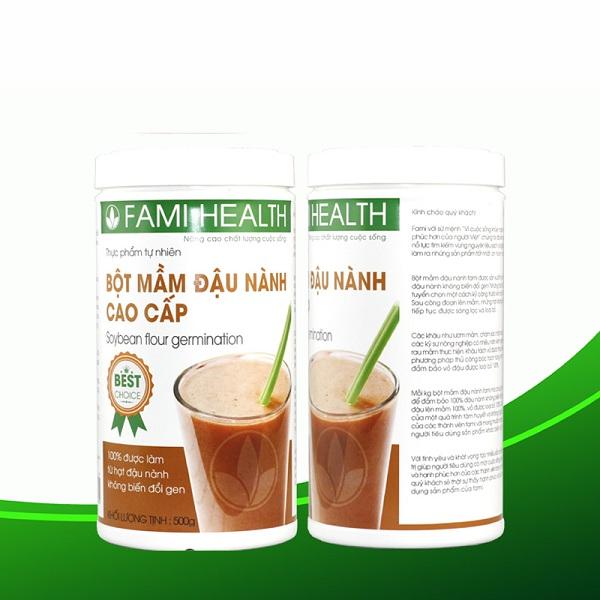 Mầm đậu nành Fami health, tinh chất, bột, thảo mộc vàng, linh spa, lady, nào tốt, review