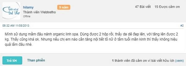 Mầm đậu nành Linh Spa có tốt không, nguyên xơ, webtretho, mua ở đâu, review, chính hãng, cách sử dụng, giá bao nhiêu, công dụng, đại lí, hướng dẫn, bảng,sỉ, quảng cáo, uống, x2