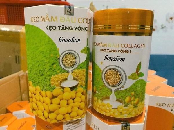 Kẹo mầm đậu nành bonabon farm có tốt không , Kẹo mầm đậu nành bonabon farm, kẹo mầm đậu collagen tăng vòng 1 , kẹo mầm đậu nành collagen tăng vòng 1 bonabon farm