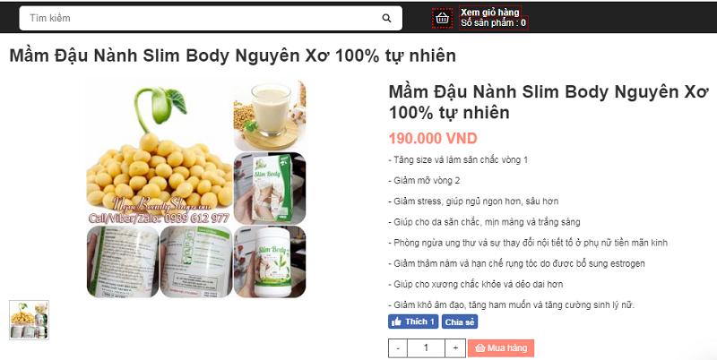 slim body có hiệu quả không,Mầm đậu nành Slim Body,mầm đậu nành Slim Body có tốt không,mầm đậu nành Slim Body nguyên xơ,mầm đậu nành Slim Body review