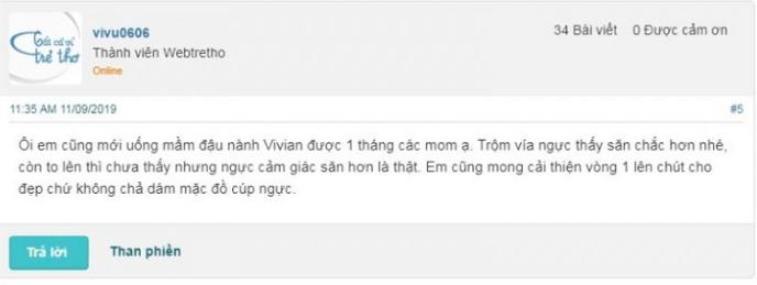 Bột mầm đậu nành Vivian review